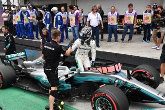 F1: Bottas a pole-on, Hamilton a falban végezte