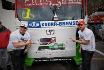 Magyarok nyerték meg a brit kamionos bajnokságot