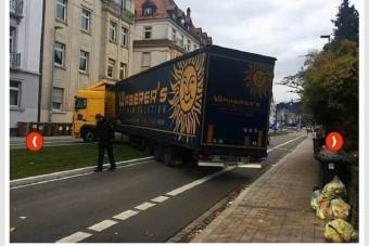 Magyar rendszámú kamion okozott galibát Németországban