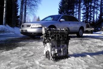 Apró dízellel és villanymotorral csinált hibridet egy öreg A8-asból