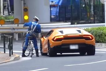 Bringával fogta meg a Lamborghinit a japán rendőr