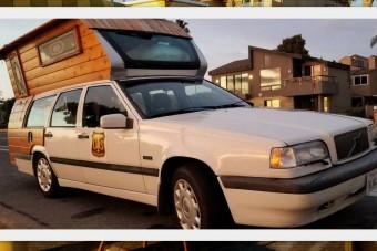 Volvo kombiból építettek lakóházat