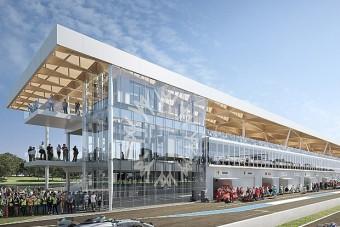 Üvegpalotát építenek egy F1-es pálya mellé