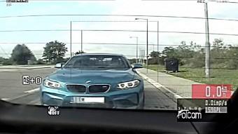 Óriási kifogást adott elő a rendőröknek a gyorshajtó BMW-s