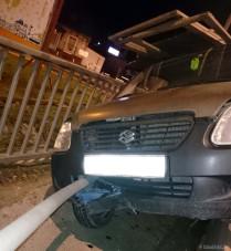 BMW lökte meg a suzukist Győrben, felnyársalta a szalagkorlát