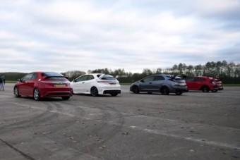 Hogy melyik Honda Civic Type R a leggyorsabb? Itt a válasz!