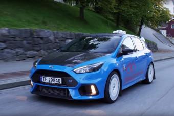 Norvégia legmenőbb taxija ez a Focus RS