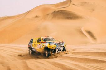 Szalayék felborultak, de folytatják a Dakart
