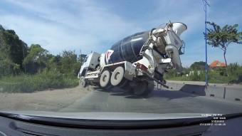 Katasztrófát előzött meg a betonkeverő sofőrje