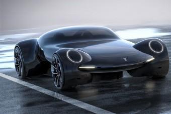 Mintha sci-fiből jött volna ez az elektromos Porsche sportkocsi