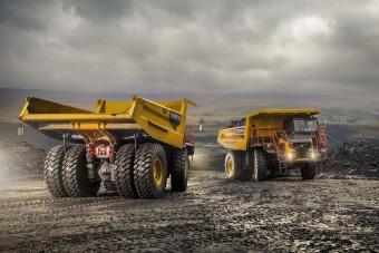 Hatalmas Volvo bányadömperek a láthatáron