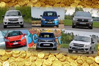 Ezek most a legolcsóbb új autók