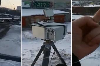 Ez a férfi nem sokat szórakozott, szétrúgott egy traffipaxot és videóra is vette
