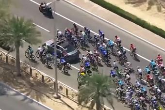 Vészfékező rendszer okozott balesetet a biciklis versenyen