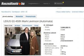 Eladó hazai használt autó, Roger Moore fenéklenyomatával