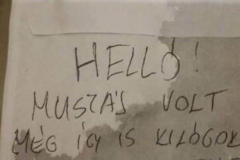 A magyar tanítónő meglepődött a szélvédőjére helyezett cetlin
