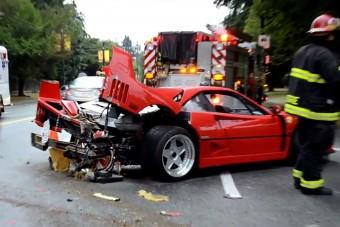 Biztosítót perel a törött Ferrari F40-es tulajdonosa