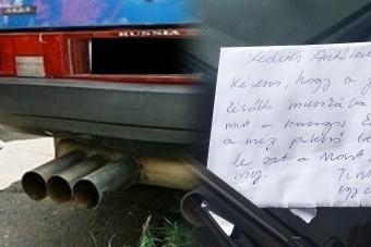 Tuner Jóska egy pesti lakótelepen él, üzenet landolt a szélvédőjén