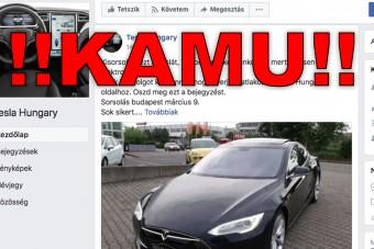 Aki elhiszi, hogy tényleg Teslát nyerhet egy magyar Facebook-oldalon, annál baj van
