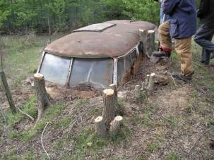Gazdájának földbe ásott menedék volt, Volkswagen-rajongóknak pedig áhított kincs