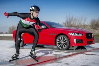 Autó ellen korcsolyázott a magyar olimpiai bajnok