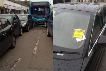 Totálkáros autót bírságolt meg a parkolóőr
