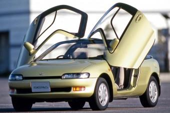 Eladó egy sirályszárnyas Toyota. Tényleg.