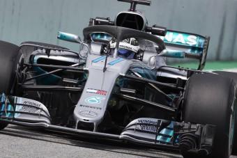 F1: Bottas vitte a szerdai tesztet