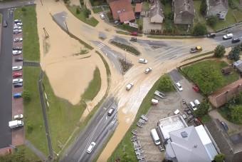 Eszméletlen drónvideón a keszthelyi özönvízszerű esőzés