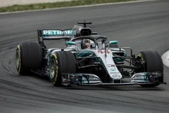 F1: Hamilton Barcelonában újra pole-on