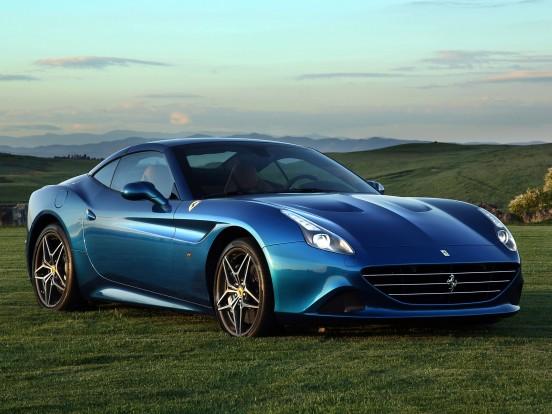 Ferrari California T: Nyolchengeres V motor két turbófeltöltővel. Furat x löket 86,5 x 82,0 mm, lökettérfogat 3855 cm3, sűrítési arány 9,4:1, max. töltőnyomás 1,3 bar. Teljesítmény 560 LE (412 kW) 7500/percnél. Forgatónyomaték 755 Nm 4750/percnél