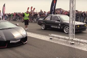 A kis BMW E30 bátran a Lamborghini mellé állt, volt meglepetés