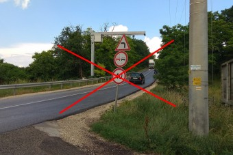 Sikersztori: 70-esre cserélték az idegesítő 40-es táblát egy traffipax alatt!
