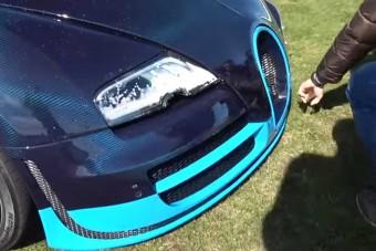 Meglepő baleset Bugatti Veyronnal, a sofőr nagyon elmérte a fékezést