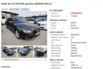 Csak a menyasszonyom miatt eladó az Audi, kérem, ne vegyétek meg!
