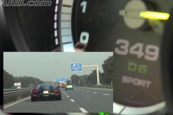 Játszanak a nagyfiúk, Porsche a Koenigsegg ellen 300 km/óra felett