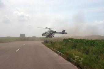 Helikopteres rendőri akció volt az M5-ösön