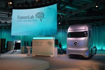 Beültünk a jövő önvezető teherautójába