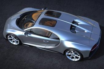 Rögtön két tetőablakot is kapott a Bugatti Chiron