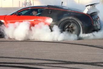 Igazi felhőgyár a hátsókerekes Bugatti Veyron
