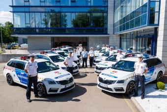 110 millióért kaptak tíz új Škodát a rendőrök