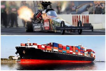 Mi fogyaszt többet: egy dragster vagy egy teherhajó?