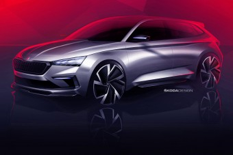 Jön a Škoda új sportos családi autója