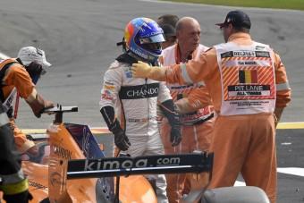 F1: Alonso nagyon megütötte magát Spában