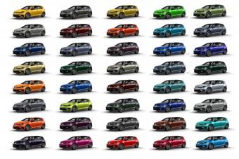 40 színben rendelhető a legsportosabb VW Golf