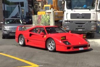 Bestiális hangorkánnal vonult végig Monacón ez az F40-es Ferrari
