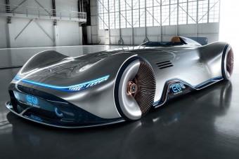 Okos, villanyos versenyautó mutatja a Mercedes jövőjét