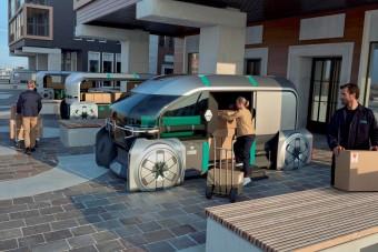 Robotfurgon-konvojt álmodott meg a Renault