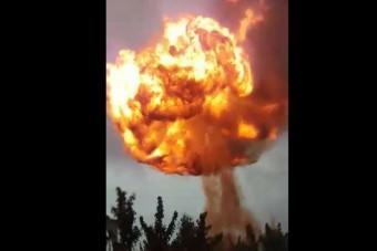 Brutális robbanással szállt el egy benzinkút Csecsenföldön
