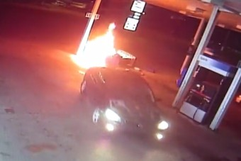 Begőzölt autós okozott tüzet egy benzinkúton